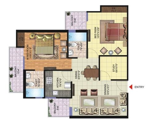 study room floor plan gtm builders promoters pvt ltd forest lavana nh 72a dehradun on nanubhaiproperty