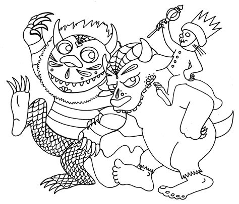 where the things are coloring pages yucca flats n m wenchkin s coloring pages dia de los