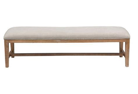 60 upholstered bench jay 60 quot upholstered bench french beige home decor