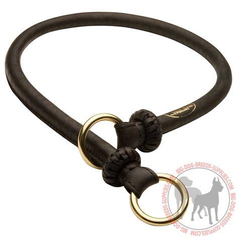 choke collar get leather choke collar obedience