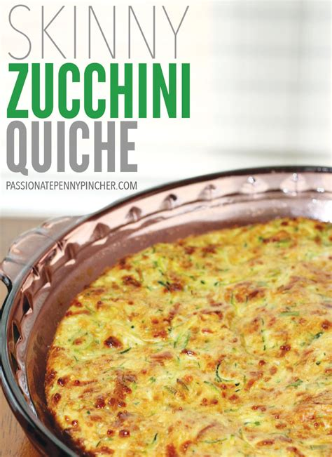 printable quiche recipes skinny zucchini quiche passionate penny pincher