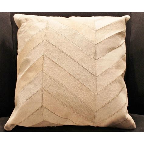 Hide Pillows by Madisons Inc Herringbone Pattern Hide Pillow