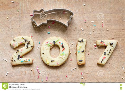 new year cookies 2017 2017 and new year gingerbread cookies stock