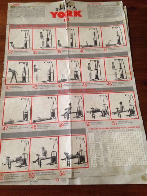 york 401 multi exercise chart york 401 compact