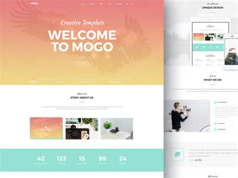 Mogo Free One Page Psd Template Freebiesbug Psd Website Templates Free 2017