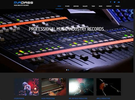 themes html premium 20 top notch html and bootstrap music website templates
