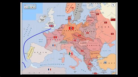 wwii map  activity  europe youtube