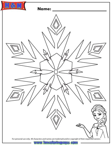 frozen snowflake templates elsa frozen snowflake coloring page h m coloring pages