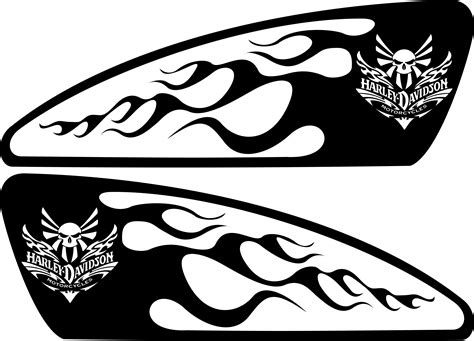 Motorrad Decals by Harley Decals Airbrush Gas Tank Stencils Vinyl Harley