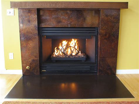 features fireplace remodel micro hammer embossed