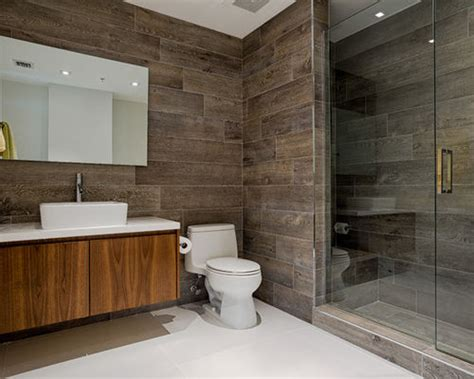 wood tile bathrooms wood tiles bathroom home design ideas pictures remodel
