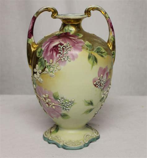 Nippon Porcelain Vase by Bargain S Antiques 187 Archive Antique Porcelain Nippon Painted Moriage