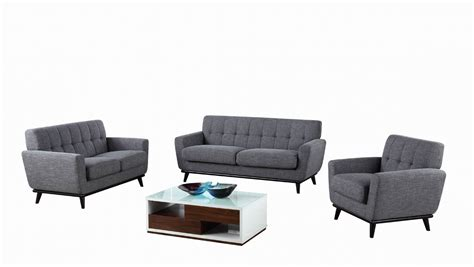 divani casa corsair modern grey fabric sofa set sofas