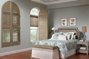 Half Moon Blinds For Windows Ideas Plantation Shutters Half Moon Window Shutters Lafayette Interior Fashions Modern Bedroom