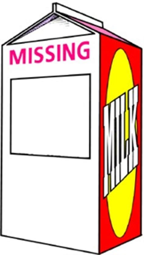 milk carton missing clip art clipart best