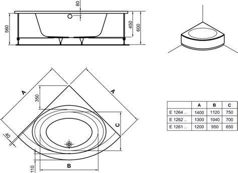 vasche angolari ideal standard dettagli prodotto e1264 vasca angolare pannellata