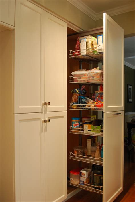 pantry pullout unit transitional kitchen other