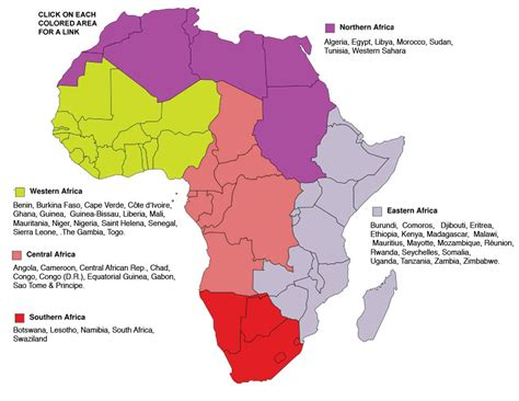 Sections Of Africa central africa world editions sle pages spreads and