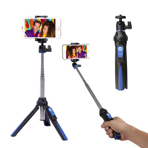 Tongsis 3in1 Built In Tomsis Bluetooth Tripod For Smartphone T36 benro mk10 bluetooth selfie stick tripod stabilizer 3in1
