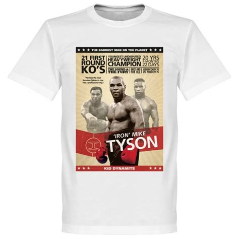 Tshirt Mike Tyson mike tyson boxing poster t shirt white