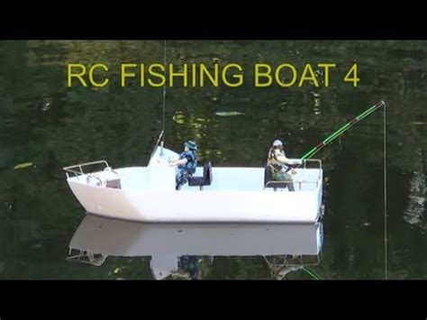 rc fishing boat videos rc fishing boat 4 first test youtube