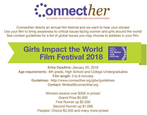 Usd Mba Application Deadline by Connecther Impact The World Festival 2018