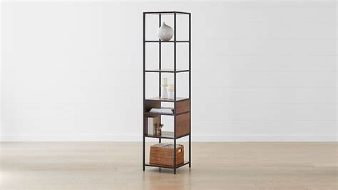 black narrow bookcase reviews crate and barrel