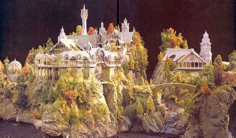 miniature sets rivendell model new line cinema