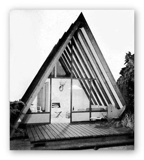 modern a frame house plans 1952 vacation beach houses cabins a frames mid century
