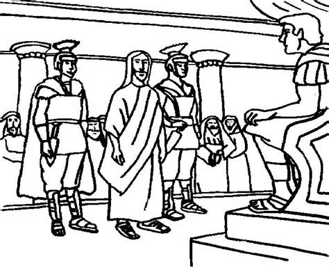 coloring pages jesus before pilate free coloring pages of jesus before pilate