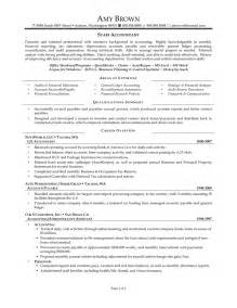 Staff Accountant Resumes by Staff Accountant Resume Sle Resume Accounting Resume Accounting Resumes Accountant Resume