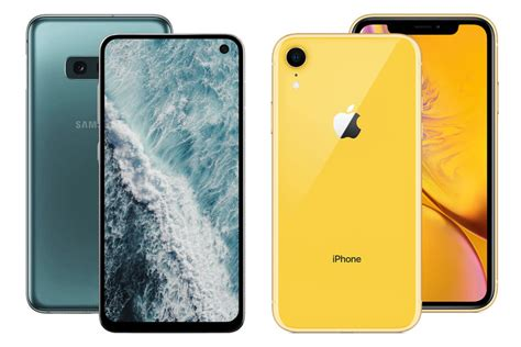 galaxy s10e vs iphone xr preview the of the affordable flagship phonearena