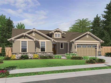 single story houses the avondale craftsman style ranch house plan with stone