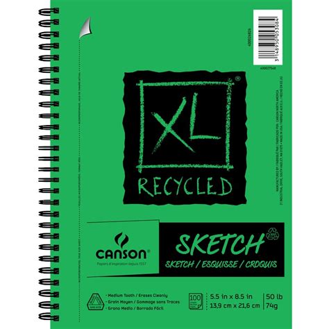 xl sketchbook xl 174 recycled sketch canson