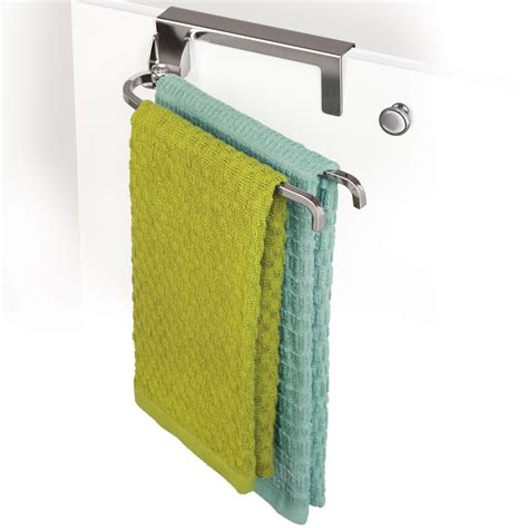 Cabinet Door Towel Rack Cabinet Door Towel Bar Chrome In Kitchen Towel Holders