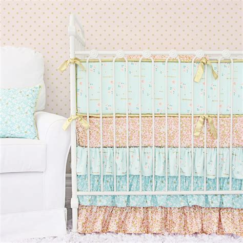 mint and coral baby bedding giveaway crib bedding from caden lane project nursery