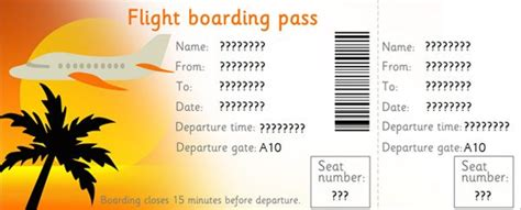 printable plane ticket template editable airline tickets i made this into an quot el al