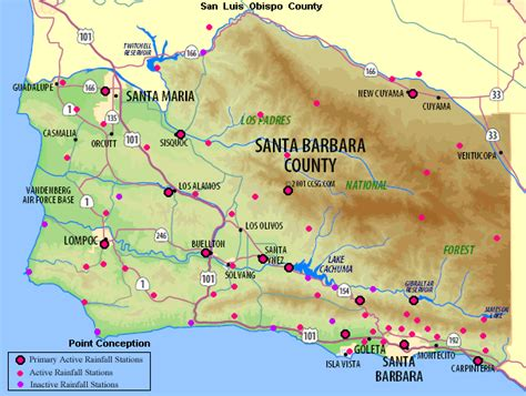 Santa Barbara County Records Sb County Works Water Resources Hydrology