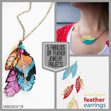 diy jewelry crafts 5 fabulous diy feather jewelry projects