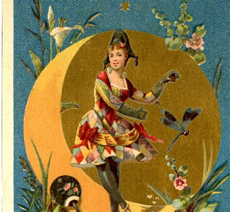 harlequin lady dancer image  graphics fairy