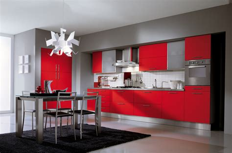 kitchen design red red kitchens