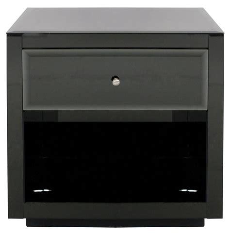 glass nightstand sheen regency modern black glass nightstand