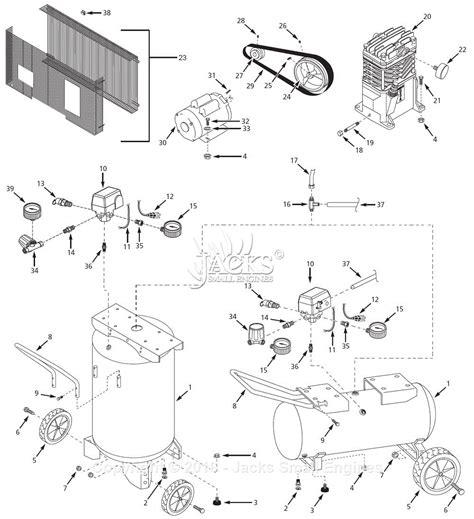 air compressor parts diagram cbell hausfeld 1nnf4 parts diagram for air compressor parts