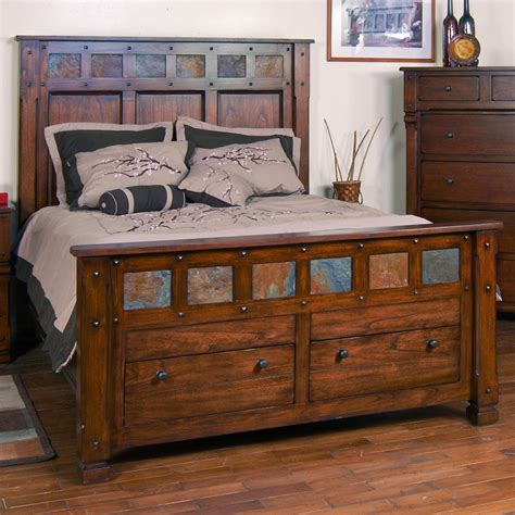 King Size Mission Bedroom Sets Santa Fe King Storage Bed With Slate By Designs