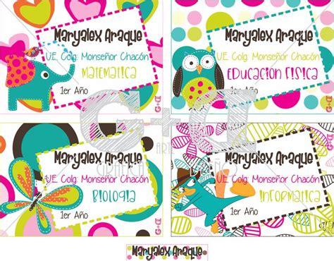 imagenes escolares coloridas 17 best images about etiquetas escolares on pinterest