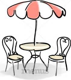 Black And White Striped Patio Furniture Cafe Table With Red And White Umbrella Clipart Cafe Clipart