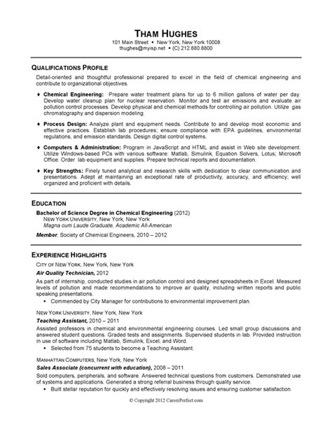 Chemical Engineer Resume Examples Careerperfect 174 Academic Skill Conversion Chemical