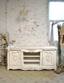 shabby chic console media cabinet