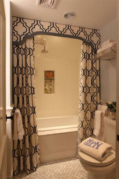 curtain in bathroom double shower curtains transitional bathroom liz