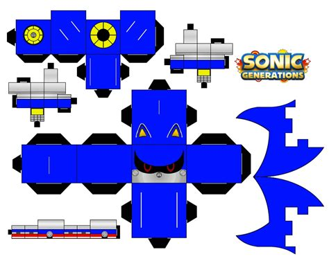 Papercraft Sonic - classic metal sonic by mikeyplater on deviantart